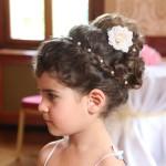 svatební děti - účes
