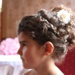 Dětský svatební účes